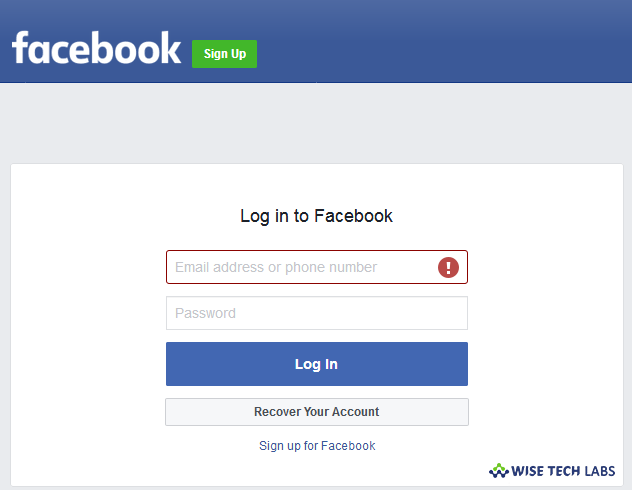 Login your Facebook account using correct username and password.