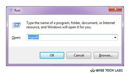 To open Registry Editor