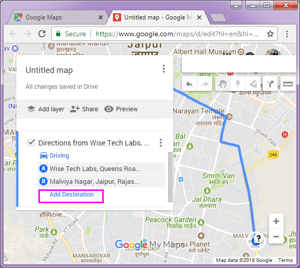 How to create custom route in Google Maps - Blog - Wise Tech ... Google Maps Add Destination on google map europe, google map canada, google map contact, google map india, google map garden, google map route, google map commercial, google map path, google map art, google map lake, google map content, google map tour, google map itinerary, google map city, google map france, google map mexico, google map australia, google map distance, google map history, google map people,