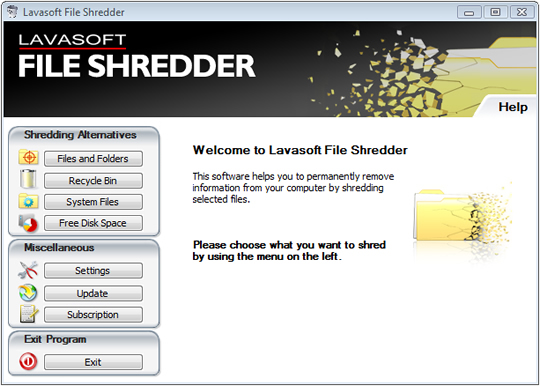 lavasoft_file_shredder_welcome_screen_wise_tech_labs