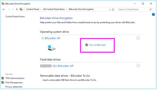 How to enable BitLocker encryption on Windows 10 - Blog
