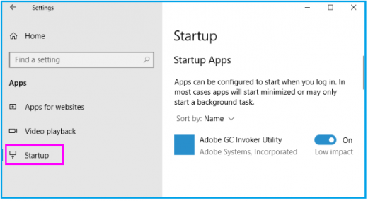 how to change programs that start on startup windows 10