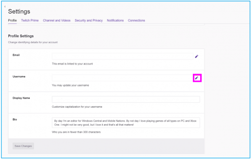 How to change username on your Twitch Account - Blog - Wise
