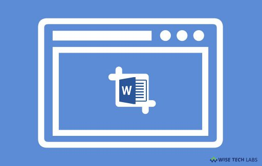 how-to-capture-a-screenshot-in-microsoft-word-2016-wise-tech-labs