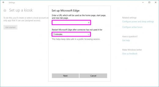 How to configure kiosk Mode on Windows 10 October 2018