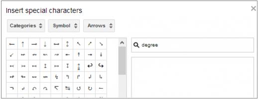 How to insert symbols in Google Doc or Google Presentation