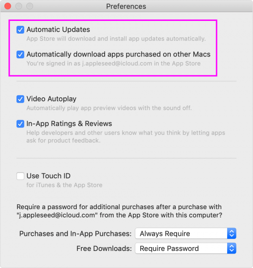 How to enable automatic downloads or app updates on your Mac