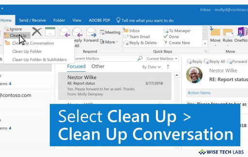 how-to-use-conversation-clean-up-tool-in-microsoft-outlook-wise-tech-labs