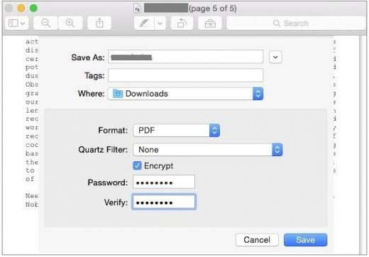 How to Password Protect or encrypt PDF Files on your Mac - Blog