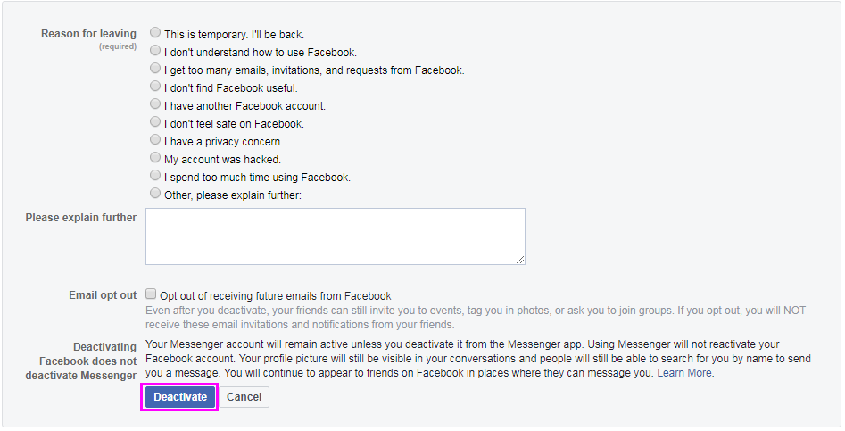 deactivate-facebook-account-wise-tech-labs