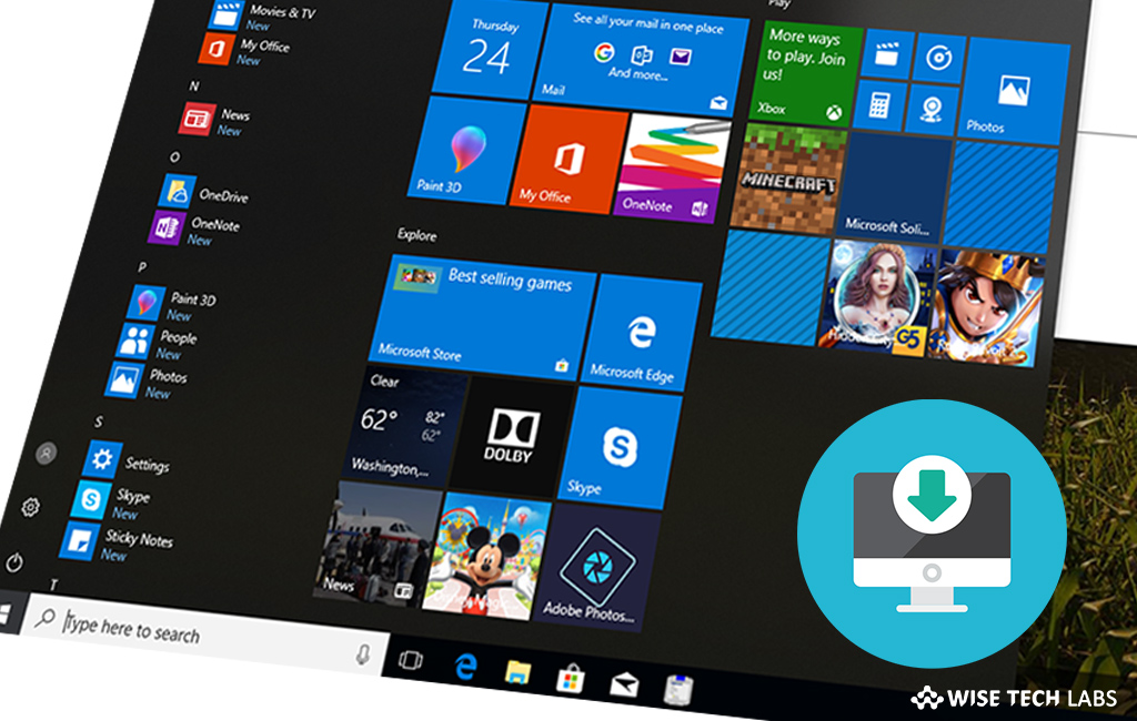 How to change download location of Windows Store Apps in Windows 10