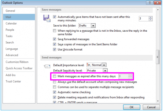 mark-messages-expired-outlook-wise-tech-labs