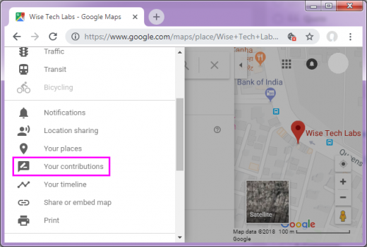your-contributions-google-map-wise-tech-labs