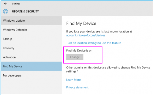 Windows-10-How-To-enable-Find-My-Device-wise-tech-labs