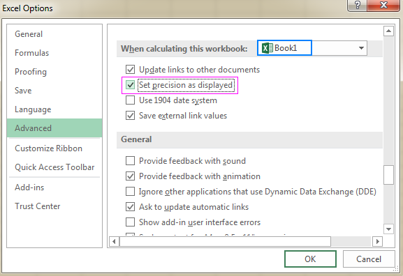 How to set rounding precision in Microsoft Excel - Blog