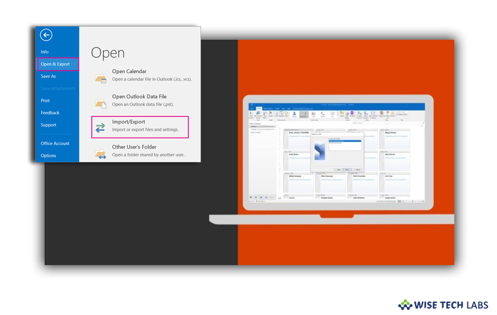 How To Export Contacts From Outlook 2019 Outlook 2016 Or Outlook