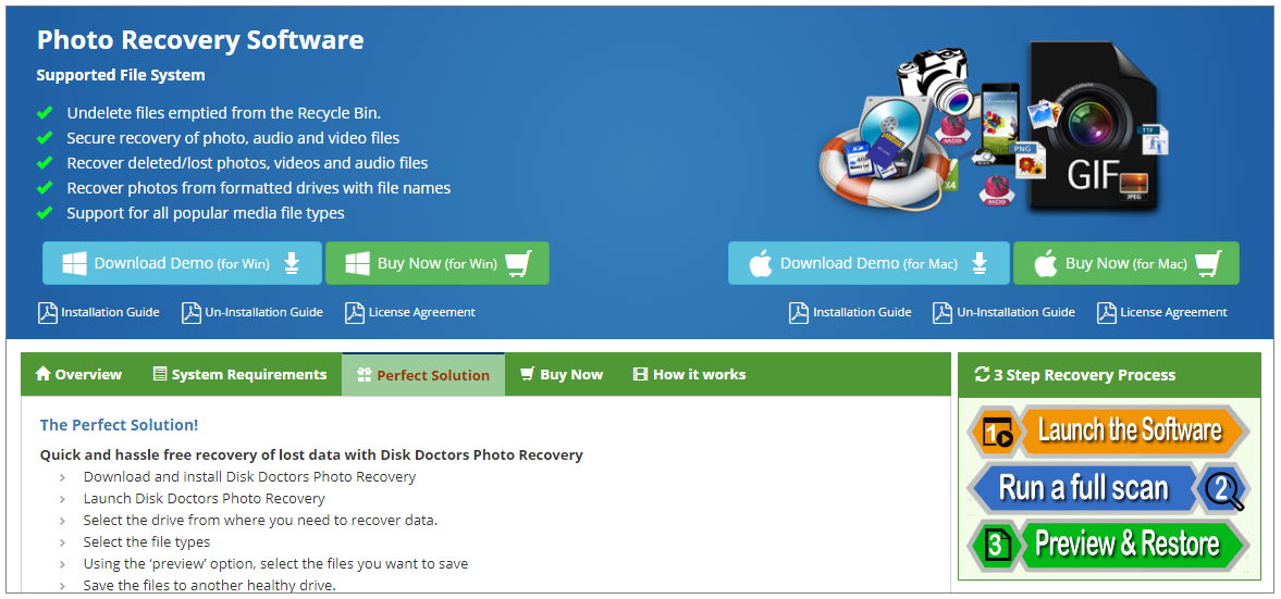 Disk Doctors Photo recovery software