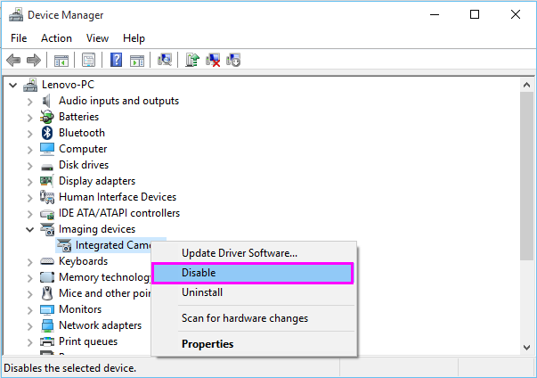 disable-webcam-win10-wise-tech-labs