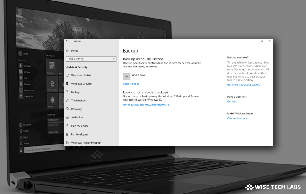 How to setup automatic backup on your Windows 10 PC