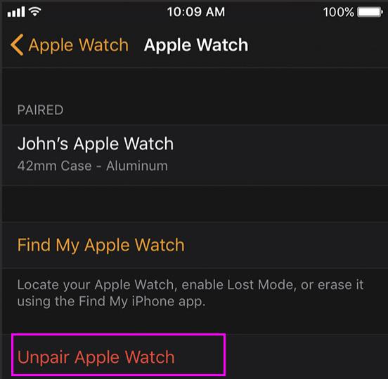 unpair-apple-watch-wise-tech-labs