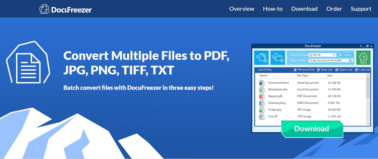 Docufreezer PDF to JPG Converter