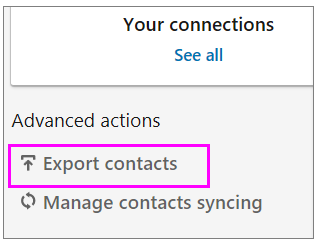 export-contacts-wise-tech-labs