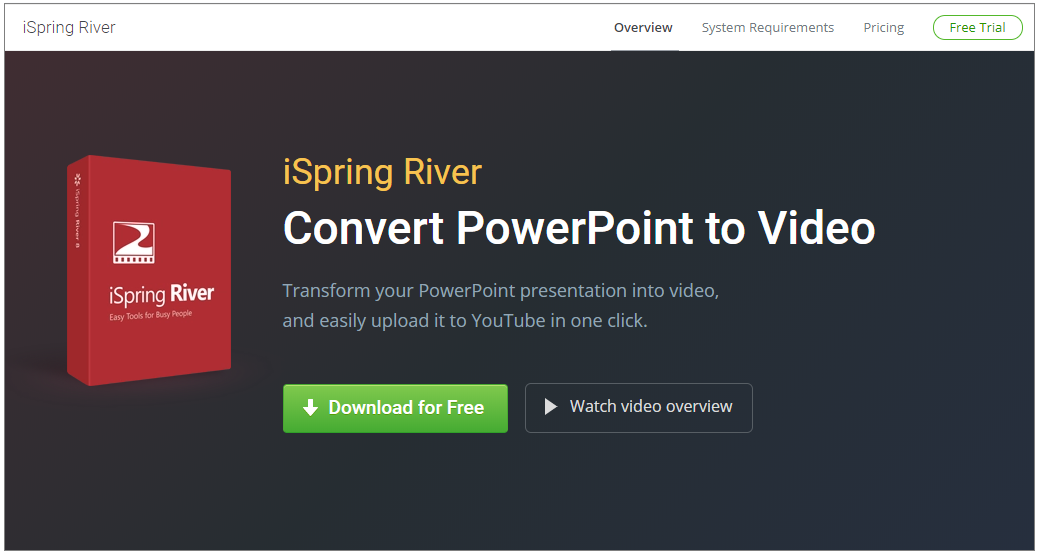 iSpring River Convert PowerPoint To Video