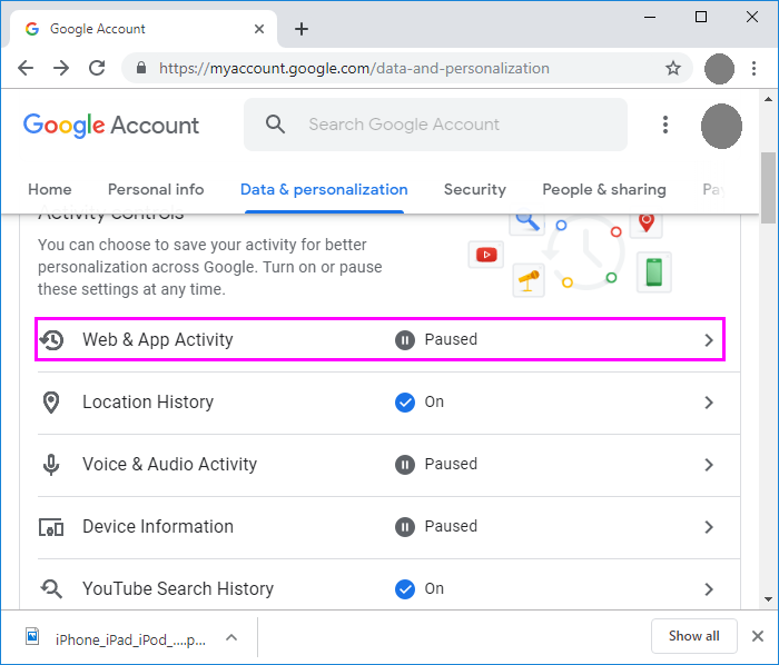 web-and-app-activity-google-wise-tech-labs