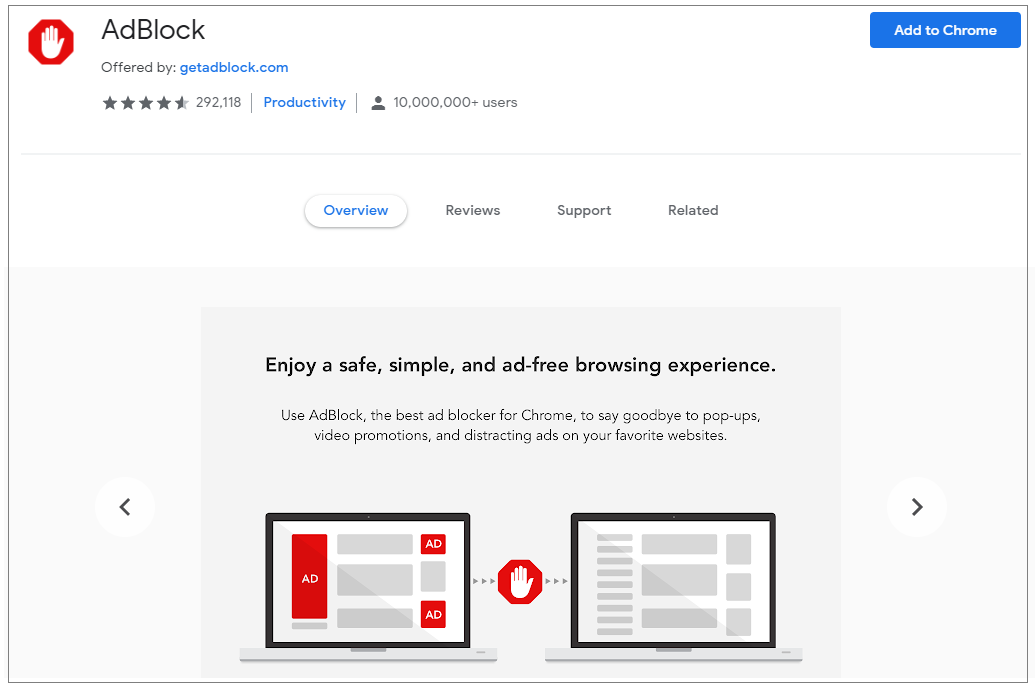 adblock-chrome-extension-wise-tech-labs