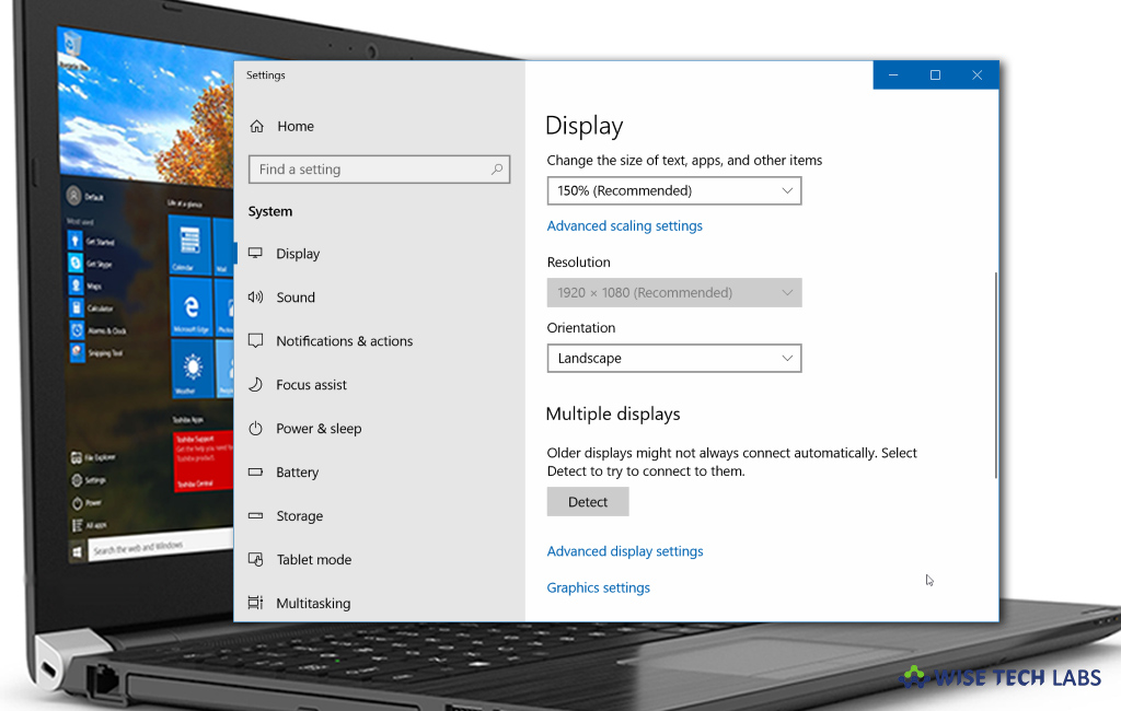 how-to-change-content-size-and-screen-resolution-on-your-windows-10-pc-wise-tech-labs