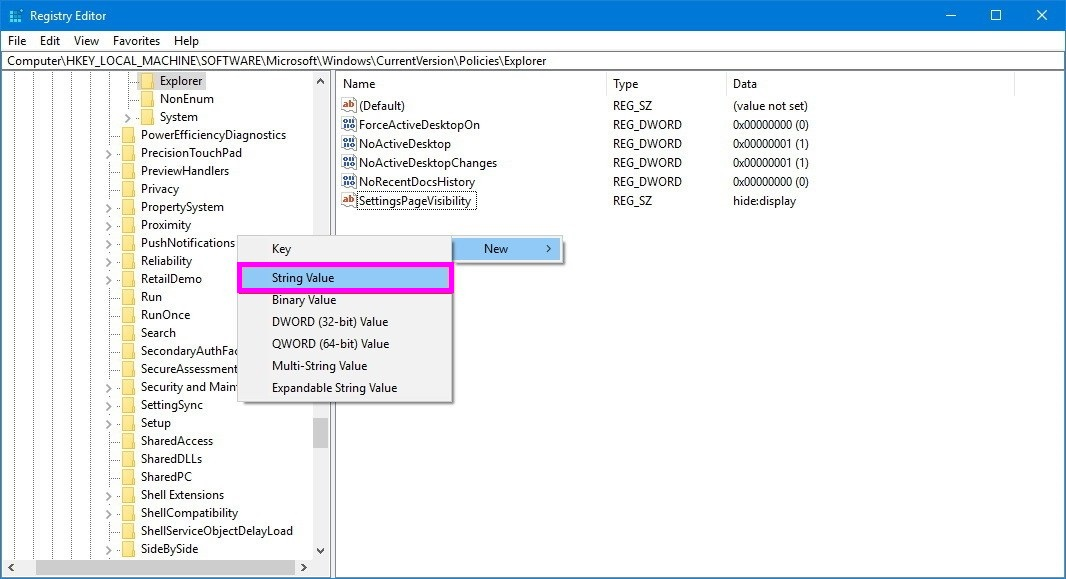 string-value-hide-pages-win10-wise-tech-labs